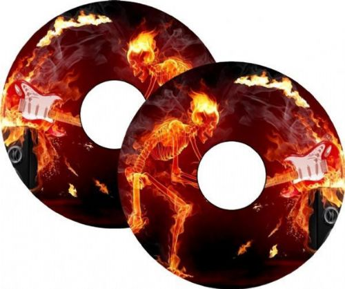 FLAMING GUITAR Wheelchair Spoke Guards
